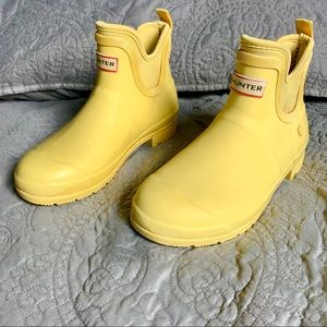 Hunter Yellow Rubber Booties